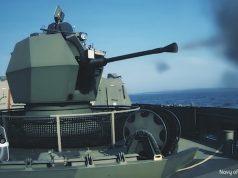 Hamina-class missile boat Tornio gun