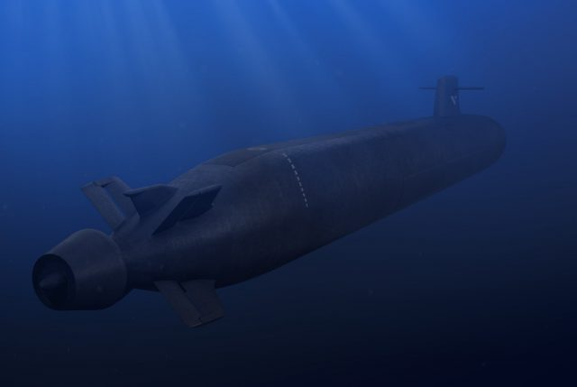 French SNLE 3G SSBN design graphic