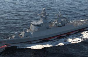 K130 corvette with the modernized TRS-3D radar