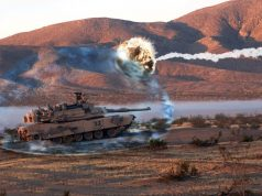 MAPS defending a tank against an incoming projectile