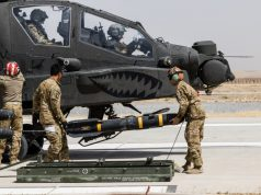Apache with Hellfire missile
