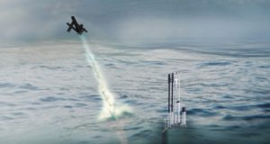 Blackwing UAS deploying from a US Navy submarine