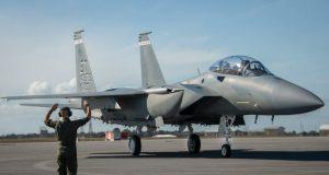 First F-15EX at Eglin Air Force base