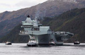 HMS Queen Elizabeth in Scotland