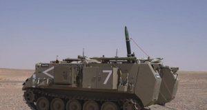 Iron Sting 120mm mortar round on M113 APC