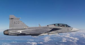 Gripen with 3D-printed external hatch