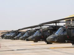 Saudi Black Hawk and AH-6 helicopters