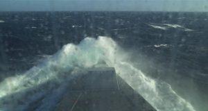 USS Zumwalt rough weather trials