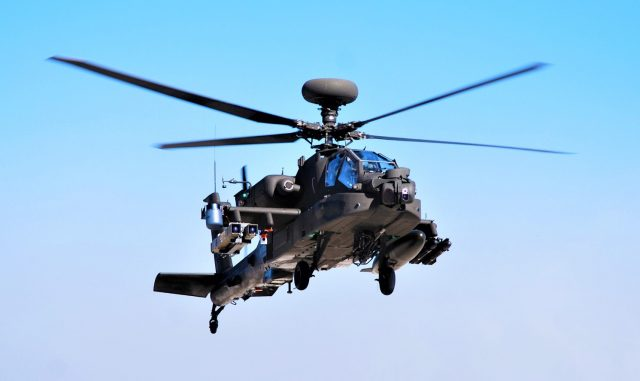 Apache helicopter with Spike missiles