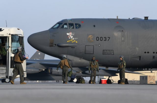 "B-52H Stratofortress bomber ""Wham Bam II"" at Minot Air Force Base, North Dakota."