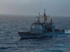 USS Monterey in the Atlantic