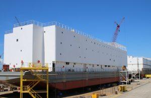 US Navy berthing barge APL-s