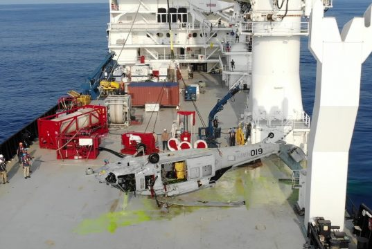 US Navy Seahawk world depth record for an aircraft recovery