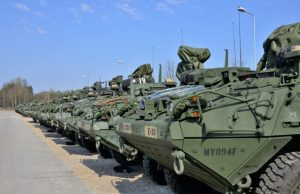 Stryker armored vehicles in Poland