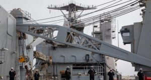 USS Fort McHenry decommissioning ceremony