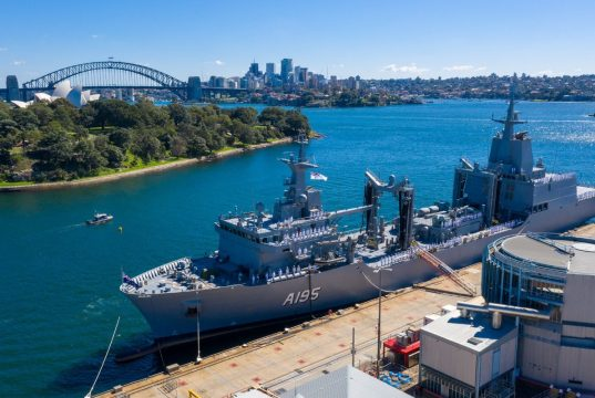 HMAS Supply commissioning ceremony
