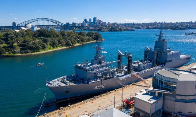 HMAS Supply commissioning ceremony