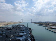USS Dwight D. Eisenhower in the Suez Canal