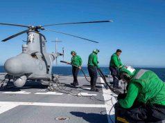 MQ-8B Fire Scout aboard USS Charleston (LCS 18)