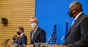 NATO conference on withdrawal from Afghanistan April 14, 2021