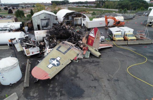 Crashed B-17 bomber damages