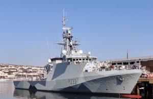 HMS Tamar dazzle paint scheme