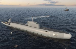 Russian submersible patrol ship design