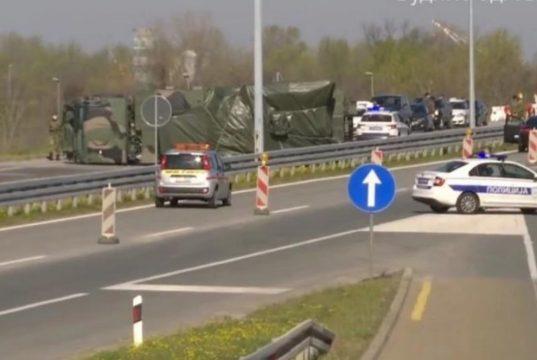 overturned Serbian Pantsir S1