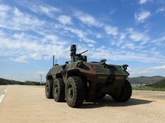 South Korean 6x6 unmanned surveillance ground vehicle