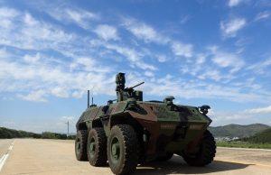 South Korean 6x6 unmanned surveillance ground vehicle