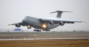 Lockheed C-5 Galaxy military transport aircraft