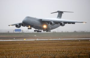 Lockheed C-5 Galaxy military transport aircraft