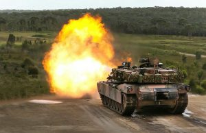 Australian Abrams tank live fire