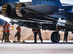 F-15E Strike Eagles configured to carry extra bombs
