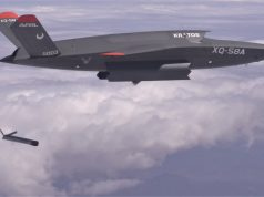 XQ-58A Valkyrie deploys the ALTIUS-600 small UAS