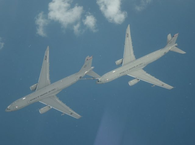 RSAF A330 MRTT tankers testing the A3R automatic refueling system