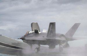 F-35B jet launching from HMS Queen Elizabeth