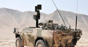 The BAA II sight system deployed on the German Army's JFST Fenneks in Afghanistan