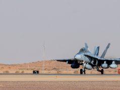 Legacy USMC Hornet in Saudi Arabia