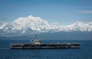 USS Theodore Roosevelt at exercise Northern Edge