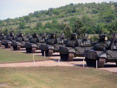 Serbian new T-72B1MS tanks