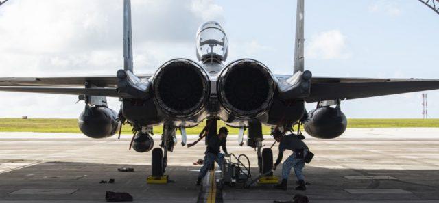 Singapore F-15SG at Andersen Air Force base