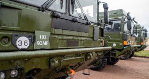 Swedish Patriot air defense system vehicles
