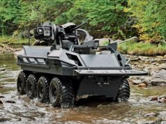 Mission Master UGV with 7.62mm cal. Fieldranger Multi remote weapon station