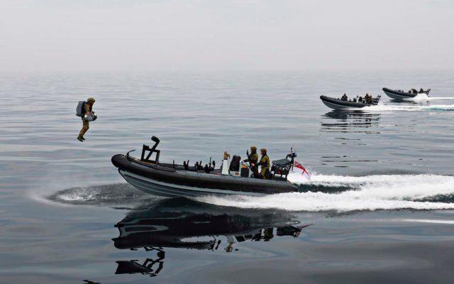 Royal Marine jetpack suit trials