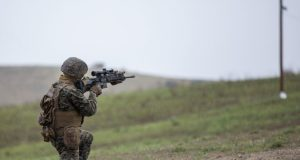 Marine with M27 infantry automatic rifle