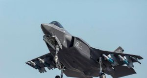 RAAF F-35A with full weapons loadout