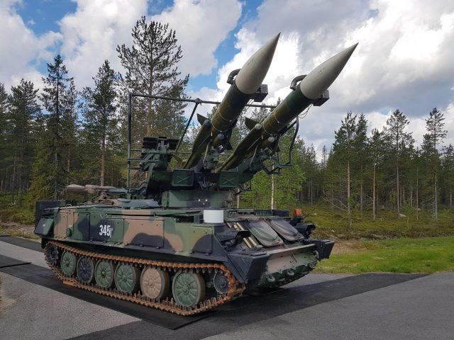 Former DDR 2K12 Kub Sa-6 air-defense system