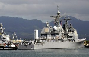 Ticonderoga-class guided missile cruiser