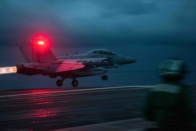 EA-18G Growler on USS Ronald Reagan